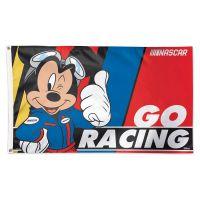 NASCAR Logo Mickey Mouse Flag - Deluxe 3' X 5'
