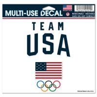 "USOC Team USA Logo Multi-Use Decal -Clear Bckrgd 5"" x 6"""