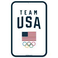 "USOC Team USA Logo Plastic Sign 11"" x 17"""