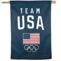 "USOC Team USA Logo Vertical Flag 28"" x 40"""