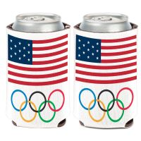 USOC Olympic Rings Can Cooler 12 oz.