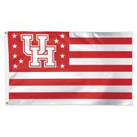Houston Cougars / Stars and Stripes NCAA AMERICANA Flag - Deluxe 3' X 5'