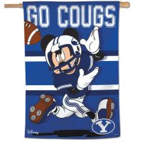 """Brigham Young Cougars / Disney Vertical Flag 28"""" x 40"""""""