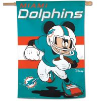 "Miami Dolphins / Disney Mickey Mouse Vertical Flag 28"" x 40"""