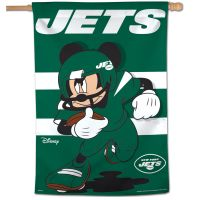 "New York Jets / Disney Mickey Mouse Vertical Flag 28"" x 40"""