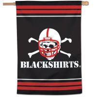 "Nebraska Cornhuskers BLACKSHIRTS Vertical Flag 28"" x 40"""