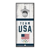 USOC Team USA Logo Bottle Opener Sign 5x11