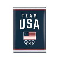 "USOC Team USA Logo Metal Magnet 2.5"" x 3.5"""