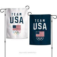 "USOC Team USA Logo Garden Flags 2 sided 12.5"" x 18"""