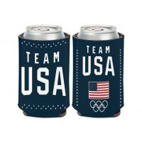 USOC Team USA Logo Bling Can Cooler 12 oz.