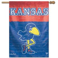 "Kansas Jayhawks /College Vault VAULT Vertical Flag 28"" x 40"""