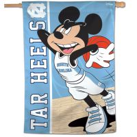 "North Carolina Tar Heels / Disney MICKEY MOUSE BASKETBALL Vertical Flag 28"" x 40"""
