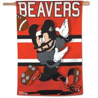 "Oregon State Beavers / Disney MICKEY MOUSE FOOTBALL Vertical Flag 28"" x 40"""