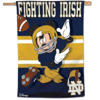 "Notre Dame Fighting Irish / Disney Vertical Flag 28"" x 40"""