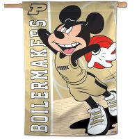 "Purdue Boilermakers / Disney MICKEY MOUSE BASKETBALL Vertical Flag 28"" x 40"""