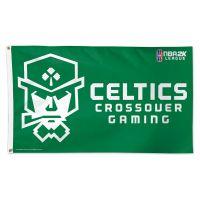 Celtics Crossover Gaming Boston Celtics Flag - Deluxe 3' X 5'