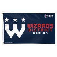 Wizards Fistrict Gaming Washington Wizards Flag - Deluxe 3' X 5'