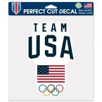"USOC Team USA Logo Perfect Cut Color Decal 8"" x 8"""