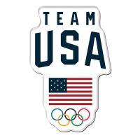 USOC Team USA Logo Premium Acrylic Magnet Carded