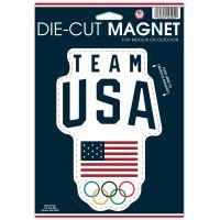 "USOC Team USA Logo Die Cut Logo Magnet 6.25"" x 9"""