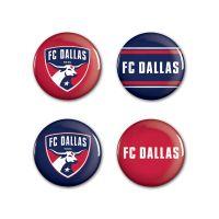 """FC Dallas Button 4 Pack 1 1/4"""" Rnd"""