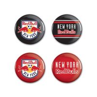 "New York Red Bulls Button 4 Pack 1 1/4"" Rnd"