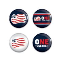 "New England Revolution Button 4 Pack 1 1/4"" Rnd"