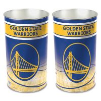 "Golden State Warriors Wastebasket - tapered 15""H"