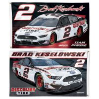 Brad Keselowski 2 sided Flag 3' x 5'