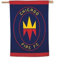 "Chicago Fire Vertical Flag 28"" x 40"""