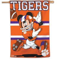 "Clemson Tigers / Disney MICKEY MOUSE Vertical Flag 28"" x 40"""
