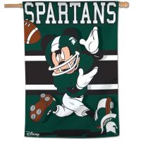 "Michigan State Spartans / Disney MICKEY MOUSE Vertical Flag 28"" x 40"""