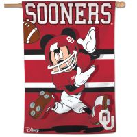 "Oklahoma Sooners / Disney MICKEY MOUSE Vertical Flag 28"" x 40"""