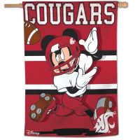 "Washington State Cougars / Disney MICKEY MOUSE Vertical Flag 28"" x 40"""