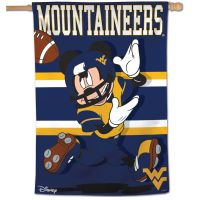 "West Virginia Mountaineers / Disney MICKEY MOUSE Vertical Flag 28"" x 40"""