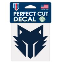 """Twolves Gaming Minnesota Timberwolves Perfect Cut Color Decal 4"""" x 4"""""""