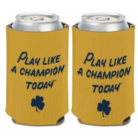 Notre Dame Fighting Irish PLAY LIKE A CHAMPION TODAY Can Cooler 12 oz.