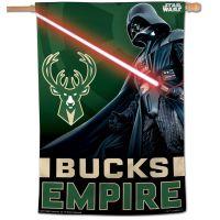 "Milwaukee Bucks / Star Wars Star Wars Vertical Flag 28"" x 40"""
