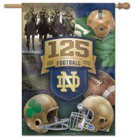 "Notre Dame Fighting Irish Four Horsemen 125 4 horsemen Vertical Flag 28"" x 40"""