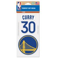 "Golden State Warriors Perfect Cut Decal Set of two 4""x4"" Stephen Curry"