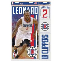 "Los Angeles Clippers Multi Use Decal 11"" x 17"" Kawhi Leonard"