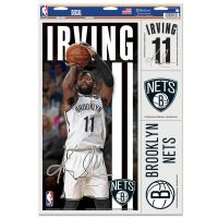 "Brooklyn Nets Multi Use Decal 11"" x 17"" Kyrie Irving"