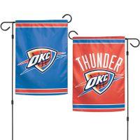 """Oklahoma City Thunder Garden Flags 2 sided 12.5"""" x 18"""""""