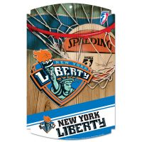 "New York Liberty Wood Sign 11"" x 17"" 1/4"" thick"