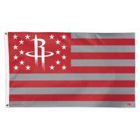 Houston Rockets / Patriotic Flag - Deluxe 3' X 5'