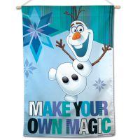 "Frozen / Disney FROZEN OLAF MAKE YOUR OWN MAGIC Vertical Flag 28"" x 40"" Olaf"