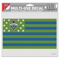 """Seattle Sounders / Patriotic Americana Multi-Use Decal -Clear Bckrgd 5"""" x 6"""""""
