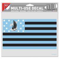 "Minnesota United FC / Patriotic Americana Multi-Use Decal -Clear Bckrgd 5"" x 6"""