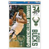 """Milwaukee Bucks Multi Use Decal 11"""" x 17"""" Giannis Antetokounmpo"""