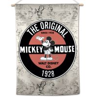 """Mickey Mouse / Disney Mickey Mouse ORIGINAL SKETCH Vertical Flag 28"""" x 40"""" Mickey Mouse"""